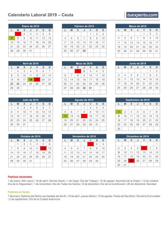 calendario laboral ceuta