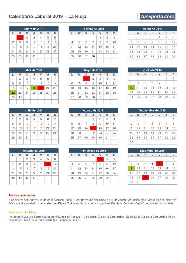 calendario laboral la rioja 2019