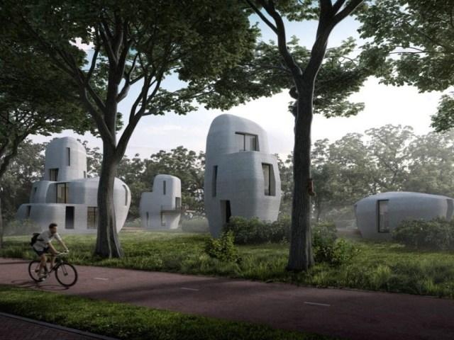 Casas impresas en 3D para acceder a vivir