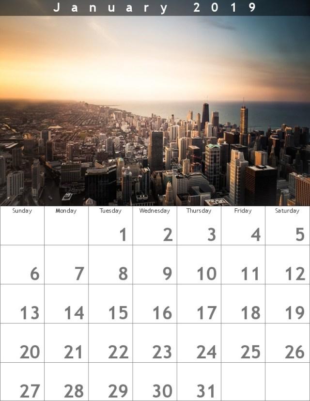 calendario enero