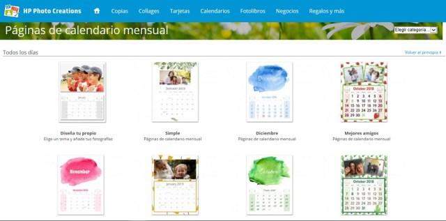 paginas calendario