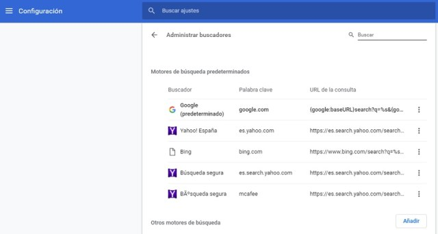 configuracion google