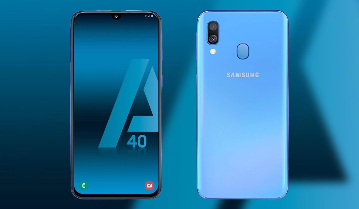 Samsung Galaxy A40. gama media con pantalla AMOLED y doble cámara