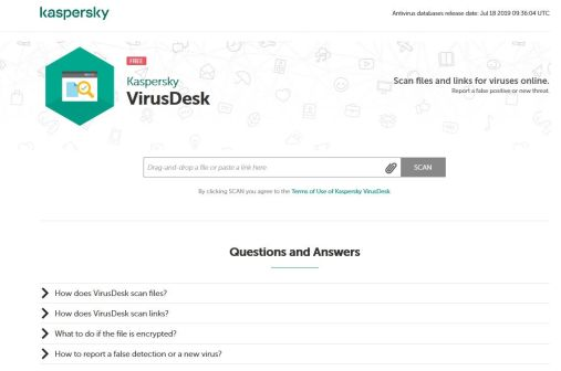 Kaspersky Virus Desk