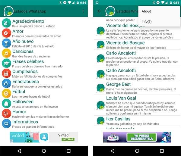 Frases de Estado de WhatsApp