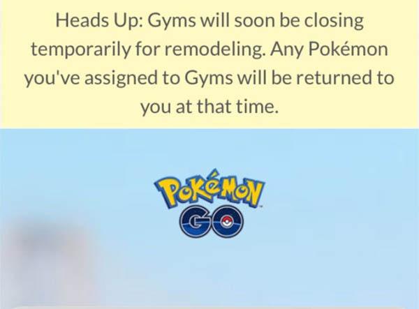 Los gimnasios Pokémon cierran por obras