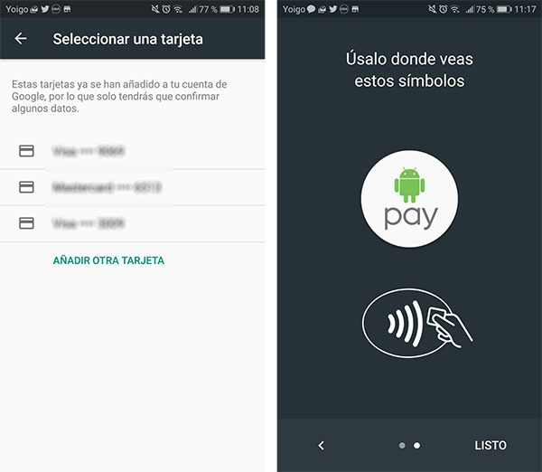 Cómo usar android pay