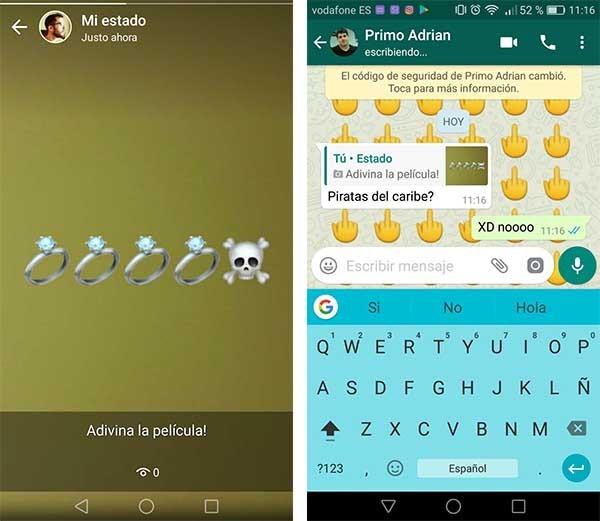 juegos para los estados de WhatsApp