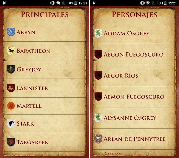 guía juego de tronos