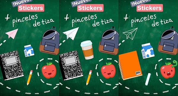 Instagram Stories nuevos stickers y pincel para la vuelta al cole