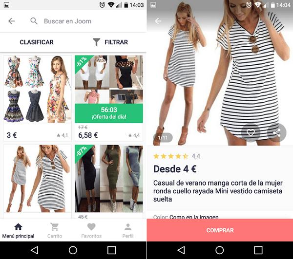 joomla adquirir ropa