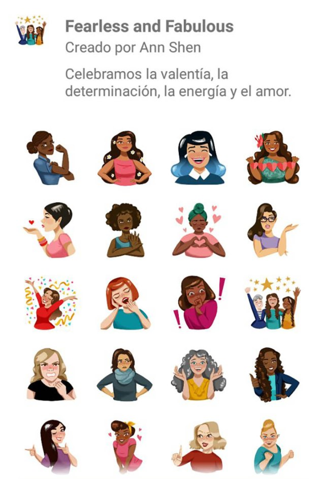 Fearless and fabulous stickers WhatsApp