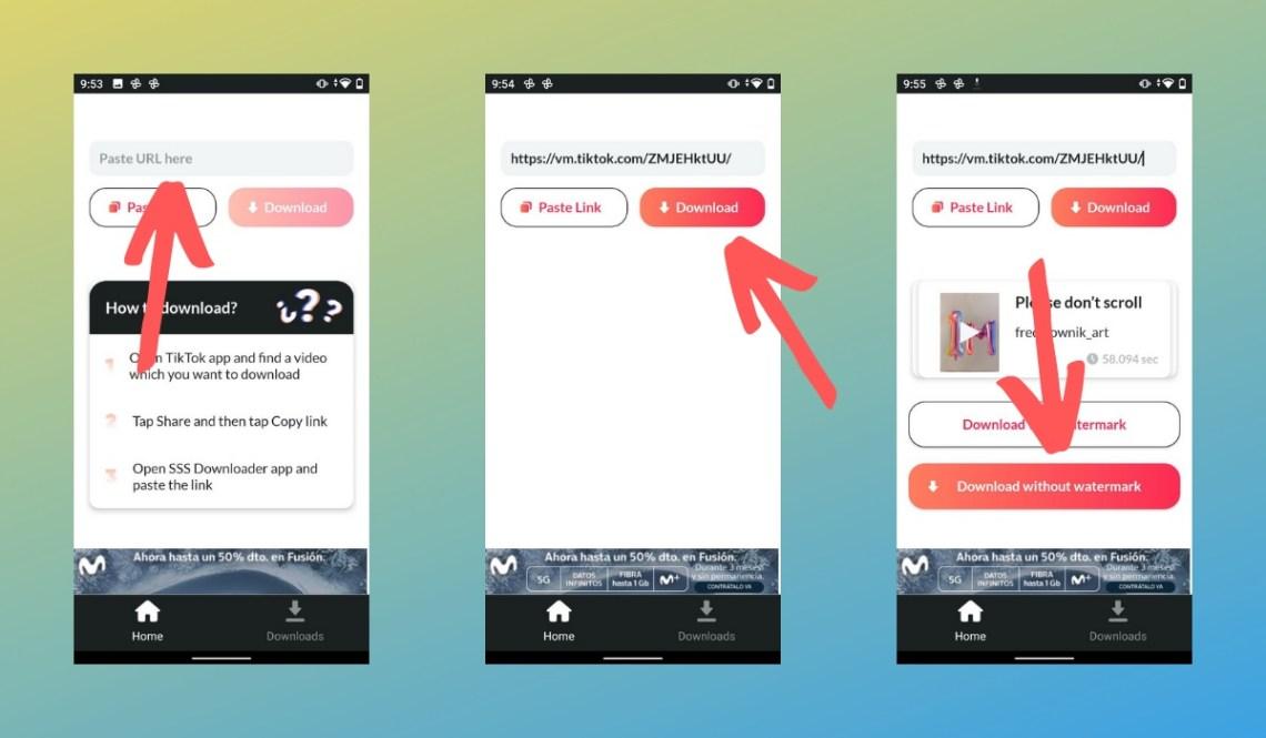 Descargar vídeo sin marca de agua en TikTok