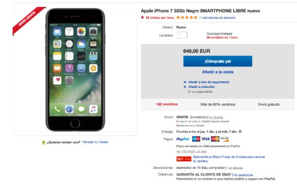Apple iPhone siete black friday