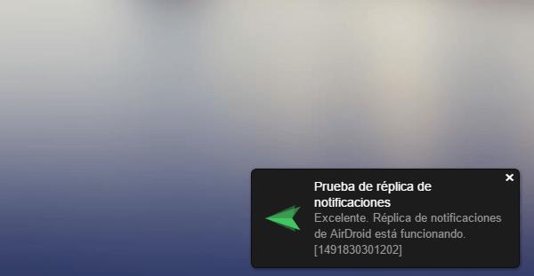 airdroid notificacion