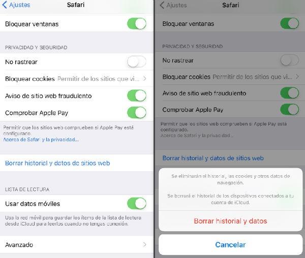 iPhone 7 borrar datos