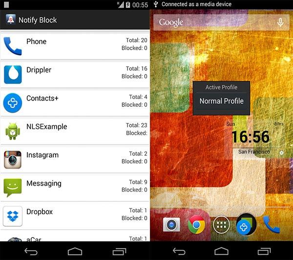 configurar notificaciones android notify block