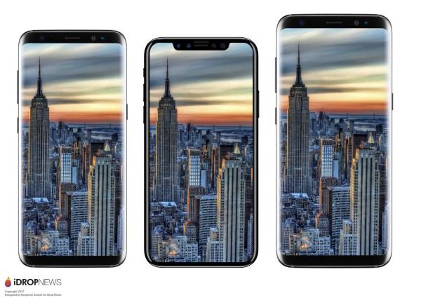 iPhone ocho vs ©Galaxy S8