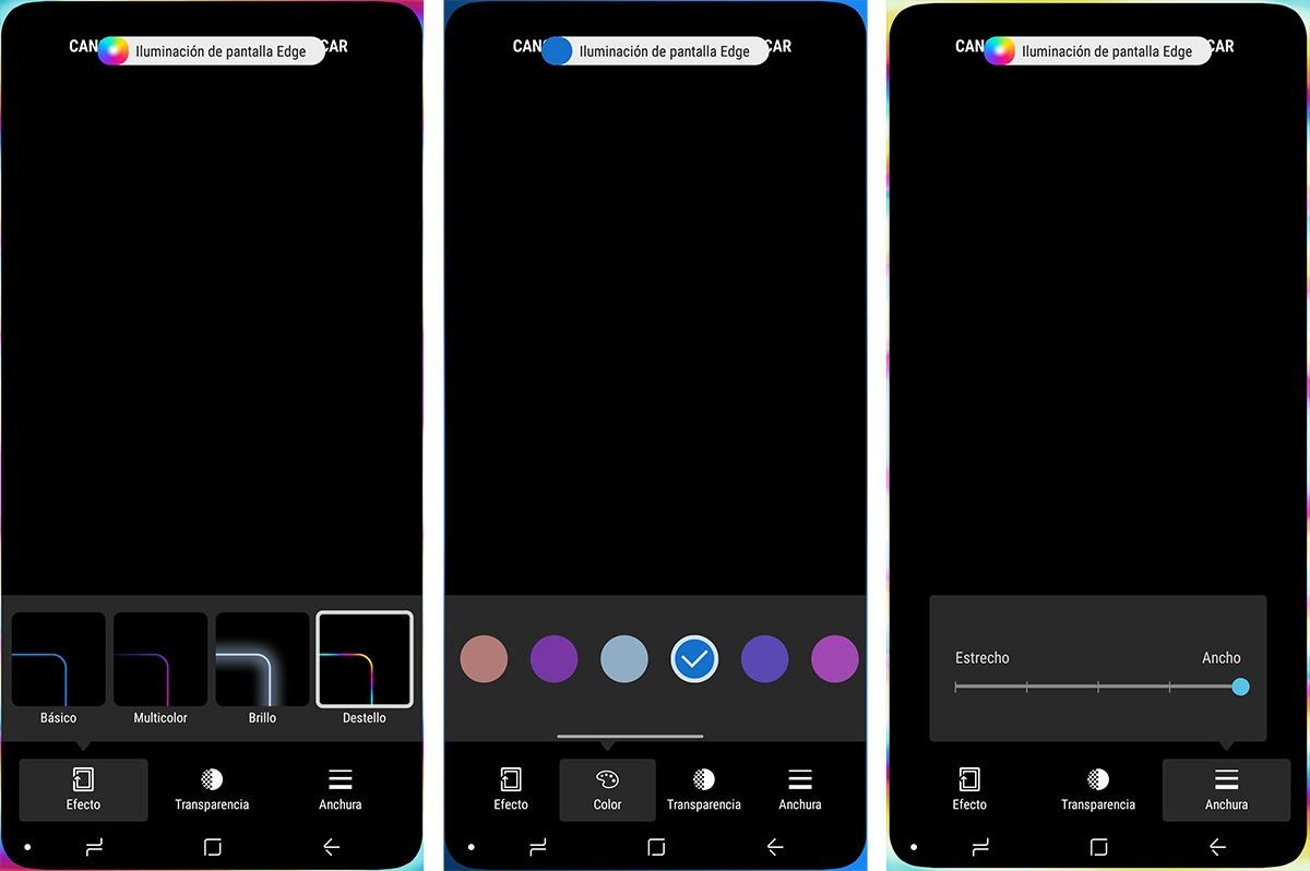 Cmo activar el brillo edge del Samsung Galaxy S9 para notificaciones  iOS Mvil