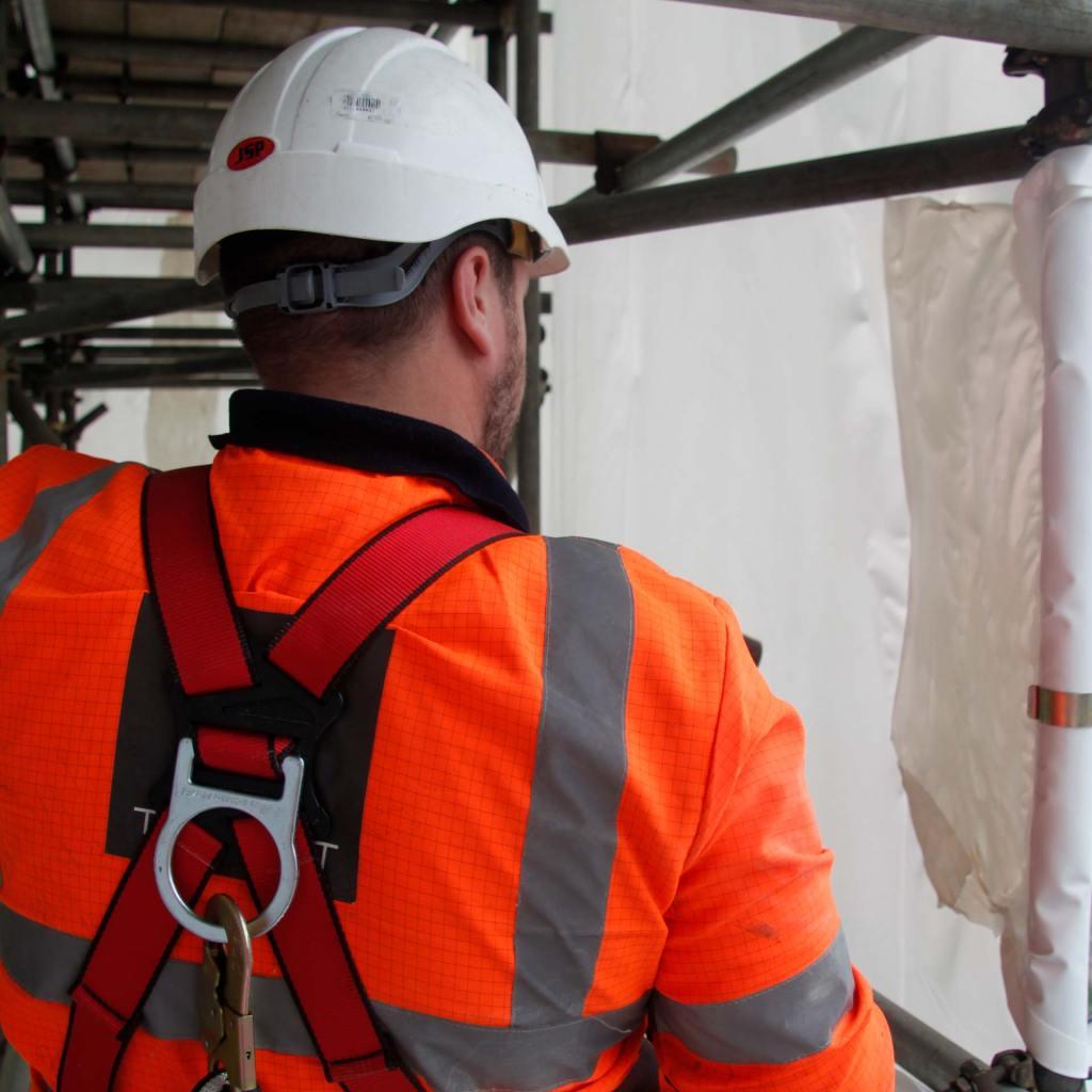 Creating a weld using scaffoldshrink-wrap
