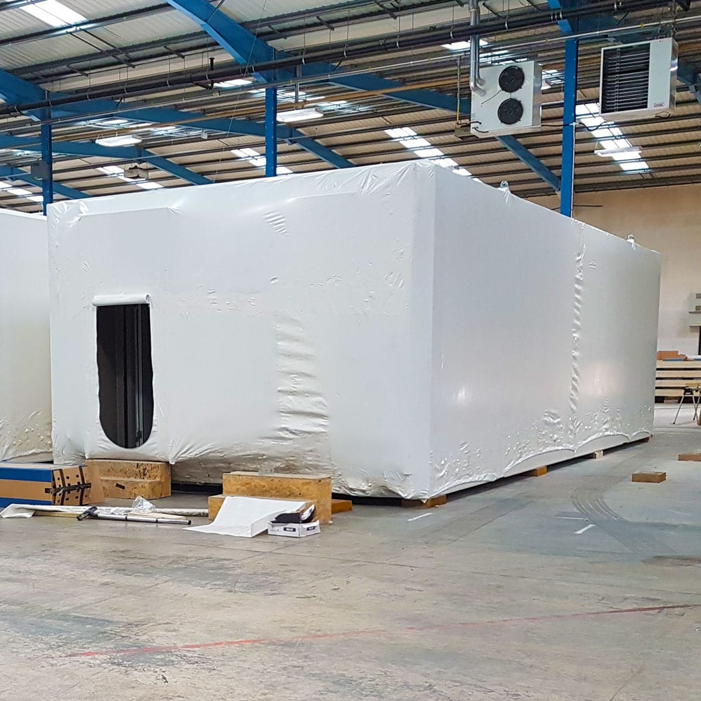 Shrink-wrap Modular Building Covers