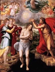 Bautismo de Jesús en rio Jordán