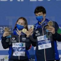 Campionati Europei: Budapest - ORO Santoro e Pellacani nel sincro misto!