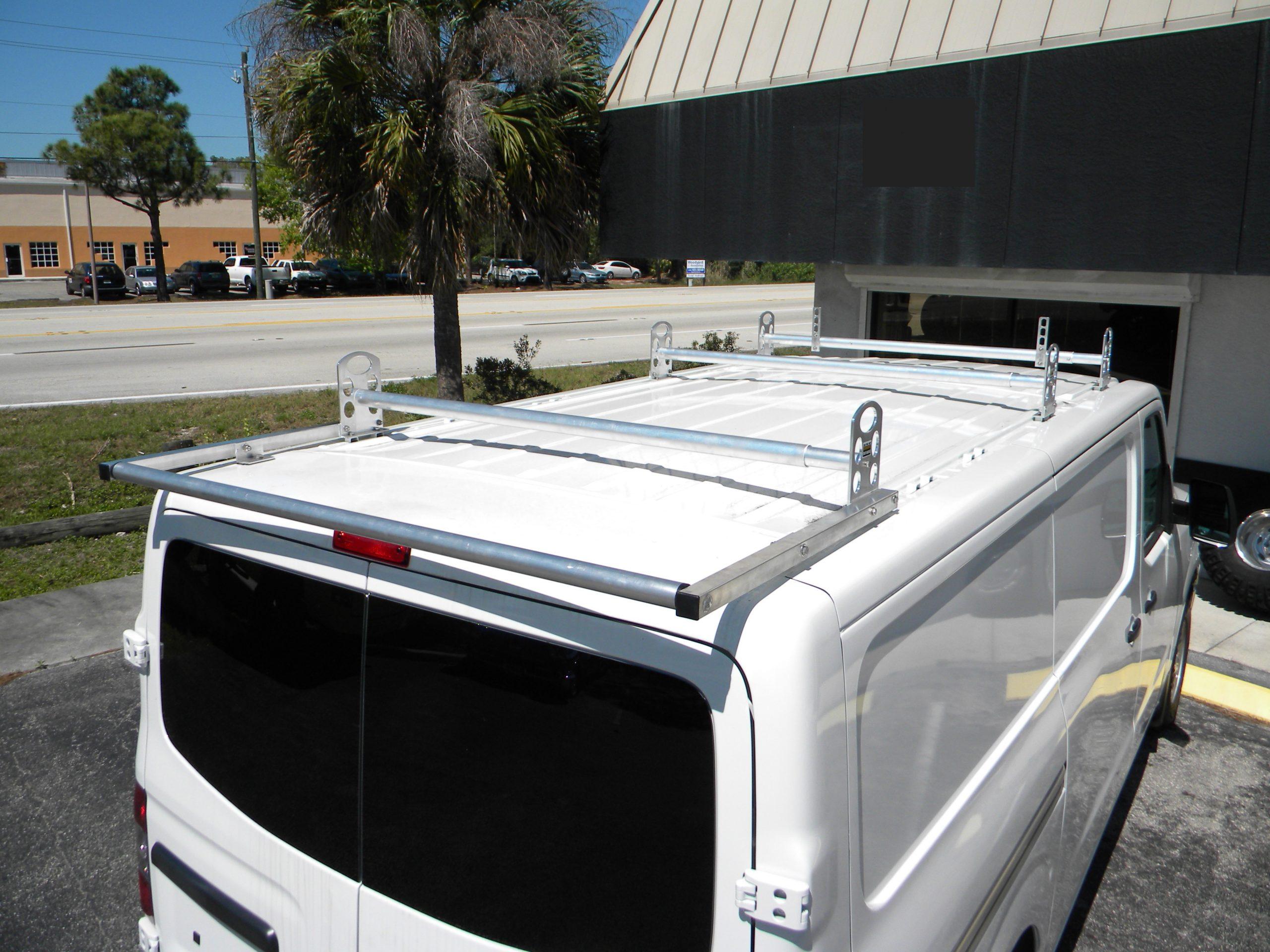 nissan nv cargo high top or low top ladder racks 3 bar w roller
