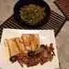 2 judias(?) y tofu