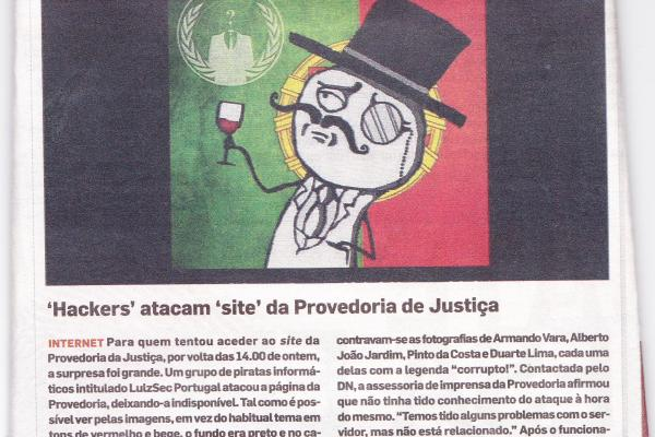 "Artigo no DN afirma que Anonymous ""incitam à desobediência civil"""