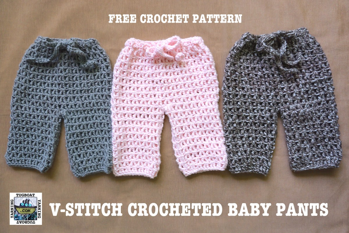 Treble Crocheted Baby Pants Sop Series Tugboat Yarning