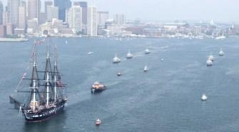 USS Constitution en el puerto de Boston (c) U.S. Navy
