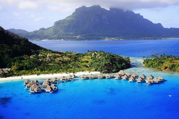 El Lago Azul de Bora Bora