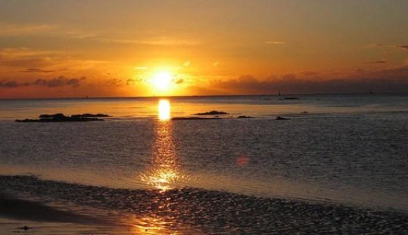 Así se pone el sol en Sanlúcar de Barrameda. Foto de Antonio M. Romero Dorado