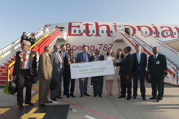 El Aeropuerto Adolfo Suárez Madrid-Barajas estrena ruta a Addis Abeba de la mano de Ethiopian Airlines, que inicia hoy operaciones en España
