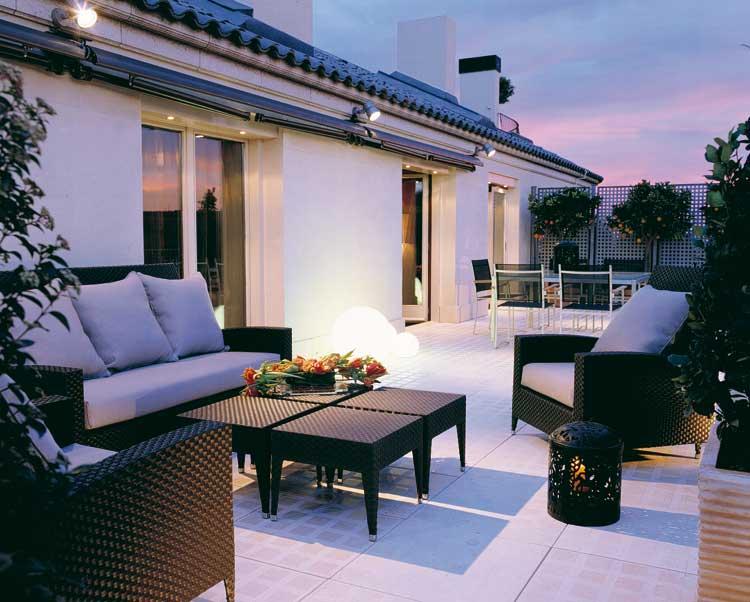 Terraza de la suite Antonio Machado del Majestic Hotel & Spa