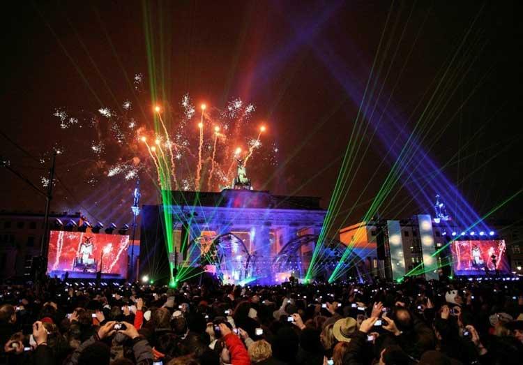 Fiesta de Nochevieja y Año Nuevo en Berlín, Alemania