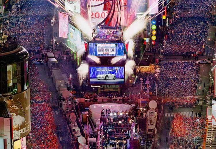 Fiesta de Nochevieja y Año Nuevo en TImes Square, Nueva York