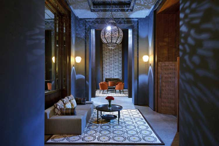 Lobby del Royal Palm Hotel de Marrakech