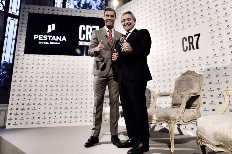 Cristiano Ronaldo y Mauricio Pestana, CEO del Pestana Hotel Group