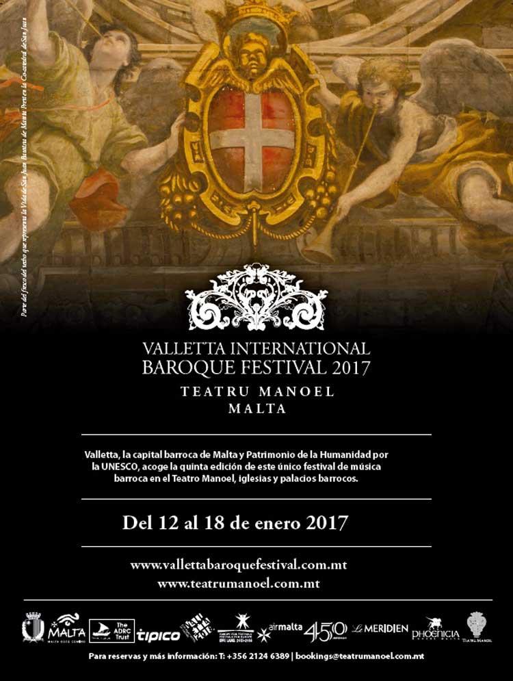 Malta celebra en enero la 5ª edición de Valletta International Baroque Festival