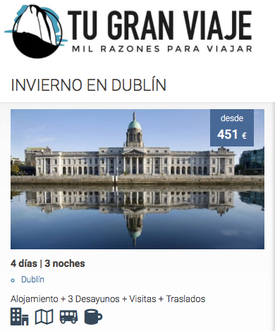 Oferta de viajes baratos a Dublin   Tu Gran Viaje