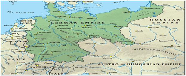 Almanya İmparatorluğunun 1914 sınırları