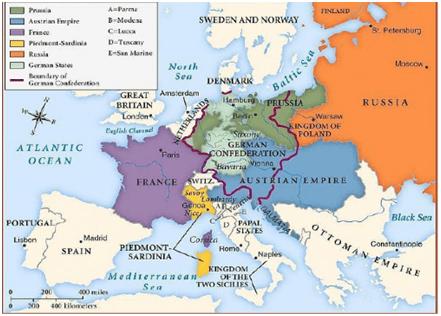 Viyana Kongresi sonrası Avrupa haritası