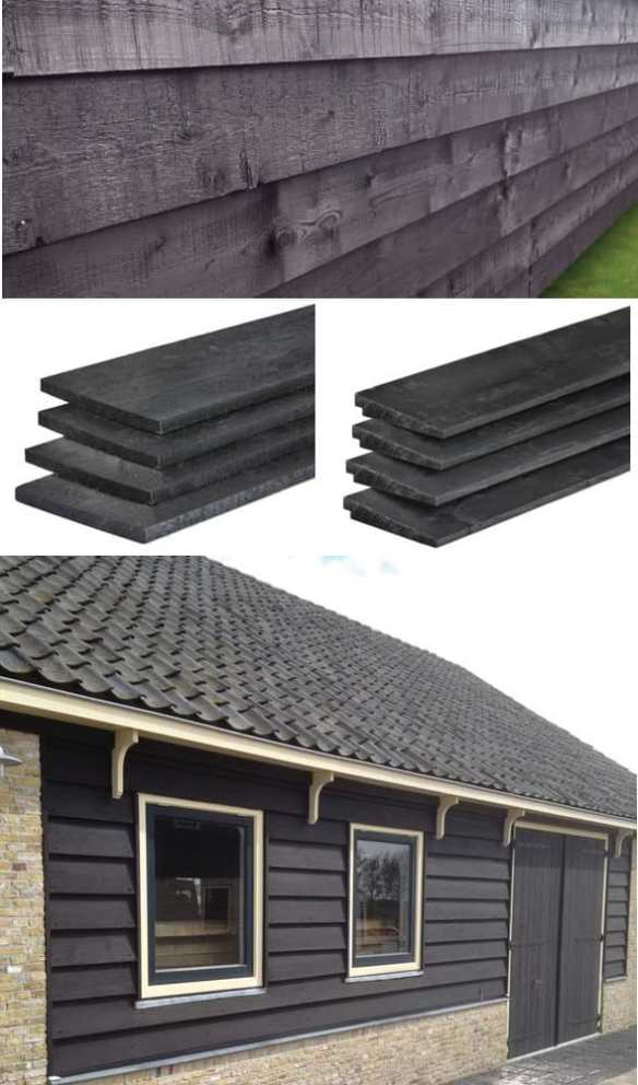Black timber cladding ideal for barns and a traditional country look