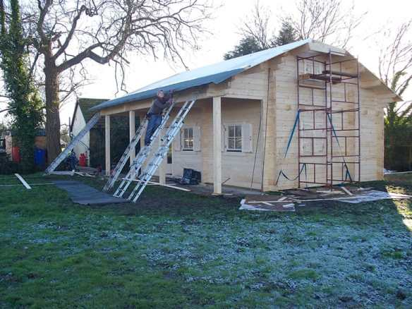 Log cabin that had to be taken down due to planning permissions