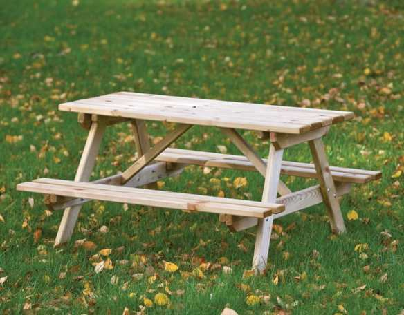 A table for the kiddies. The Junior picnic table in FSC timber