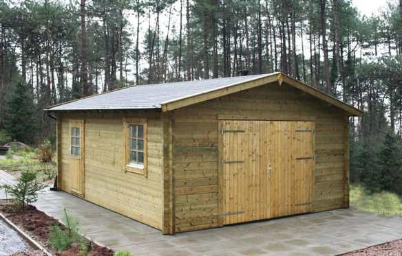 Tanalised Log Cabin Garage