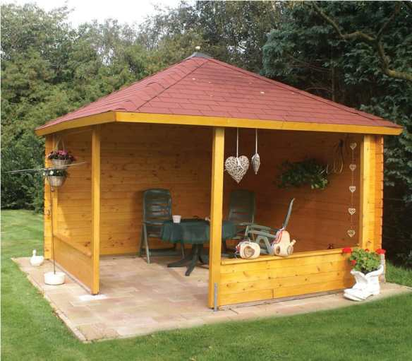 Highly recommended to pressure treat this log cabin
