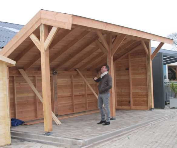 Larch clad cart barn.